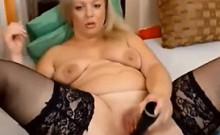 Beauty Blonde Mature Masturbating On internet - More: 18-po