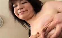 Curvaceous Asian babe pleases a cock with her big boobs and