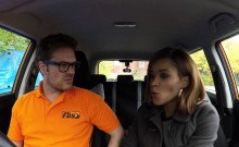 Ebony makes a deal with driving instructor