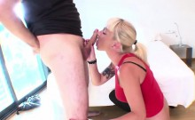 Blonde milf Angelica Castro got banged