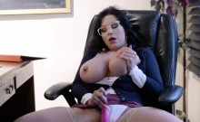 Hot librarian fucks student in the classroom