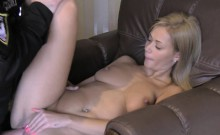 Fake cop bangs sexy blonde in friends house