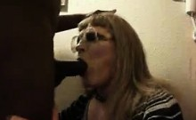 Cuckold slut interracial blowjob