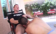Big dick daddy Tony and Josh fucking hard outdoor after work