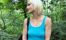 Tight Eurobabe Zazie Skymm pounded in the woods for cash