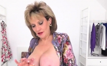 Unfaithful british mature lady sonia pops out her massive ti