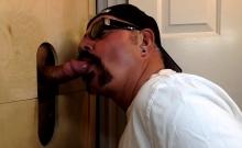 Latino Cums Fast At The Gloryhole