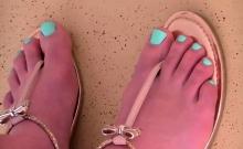 Cute teen and foot fetish gramps