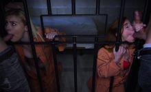 DaughterSwap - Two Fathers and Daughters Fuck In Jail Cell