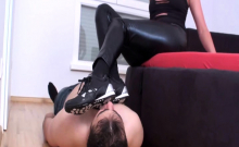 Fetish Brats order guys to lick their sneakers