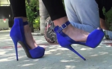 Female-dominator Makes Her Slave Lick Her Shoes And Socks