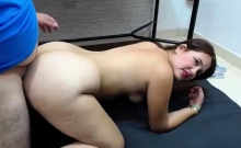 Fat ass MILF camgirl gets doggystyle fucked on webcam