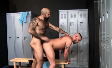 Two Buddies Pleasuring Themselves After The Workout