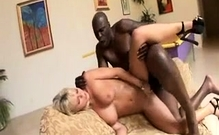 Blonde Teen White Pussy Into Interracial Sex Big Black Cock
