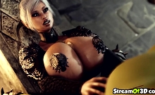 Splendid Titjob From Big Tits Blonde Babe To Orc