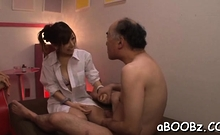 Dazzling oriental maid Erika Kitagawa gets extra wet
