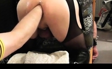 Fucking, Pissing On And Fisting Crossdresser Slave Part 2