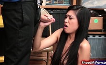 Teen Asian Shoplifter Throats And Fucked By Store Officer