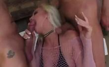 Hardcore Blonde Mom Nikki Hunter Takes Two Cocks