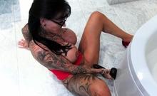 German big tits tattoo femdom milf masturbate until orgasm