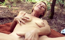 71yr old Grandma Elisa Seduce to Public Sex by Young Guy