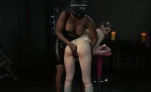 Natural busty slave licks her mistress